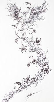 Firebird- Tattoo request from a friend by OpheliaArts