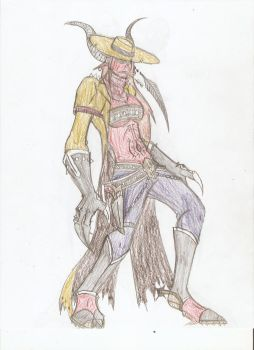 Demon Cowgirl by hailenvy