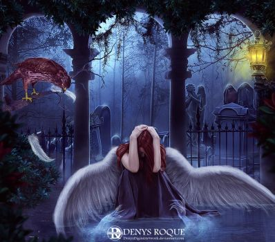 The angel who lost her faith by DenysDigitalArtwork