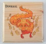 Dinraal Woodprint - Breath of the Wild Dragon by aprilsundays