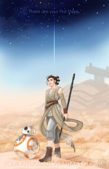 Rey - First Steps by YoukaiYume