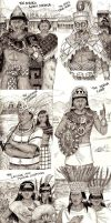 Kings and Queens of Mesoamerica sketch collection by Kamazotz