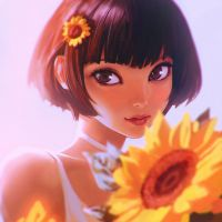 Sunflower by Kuvshinov-Ilya