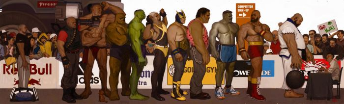 The Strongman Competition by FUNKYMONKEY1945