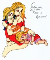 Freyja with her daughters by Iglybo