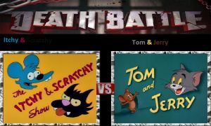 Itchy and Scratchy vs. Tom and Jerry by cartoonfan22