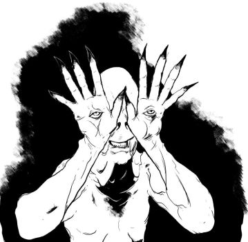 The Pale Man from Pan's Labyrinth by DaveCummings