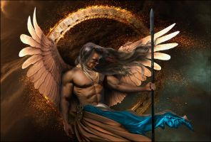 archangel gabriel .. God is my strength by enkrat