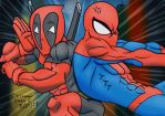 Deadpool and SpiderMan by XStreamChaosOfficial