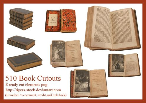 510 Book Cutouts by Tigers-stock