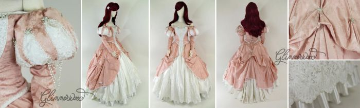 Little Mermaid Pink Ball Gown Cosplay Dress by glimmerwood