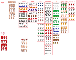 basic walk template + clothing sprites by chasz-manequin