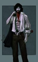 Sexy male Vampire by DrawingNightmare