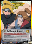 Naruto TCG: Deidara and Azumi by mongrelmarie