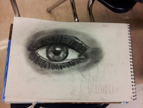 Eye sketch by LightningSweetharta