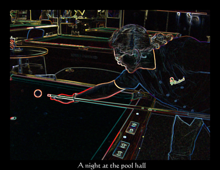A Night At The Pool Hall by aractor