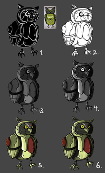 Robot Owl progress by Alex-the-Irregular