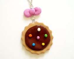 Bow and cookie necklace by LittleMissDelicious