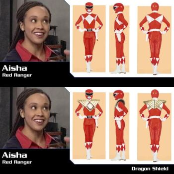Aisha is the Red Ranger by Andruril93