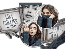Png Pack 615 // Lily Collins by confidentpngs