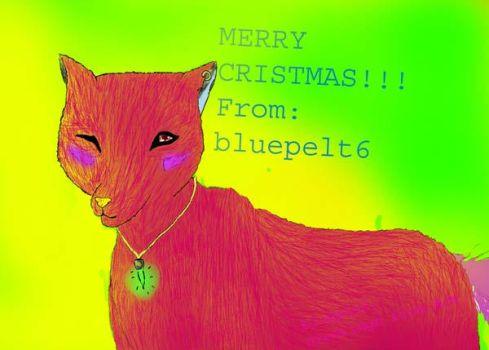 Christmas Wolf by bluepelt6