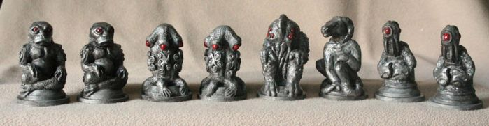 Cthulhu Chess in Silver by BrittaM