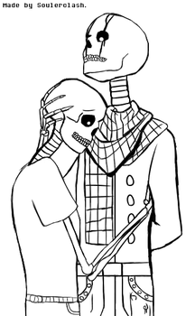 Realistic Gaster getting hugged! - Sketch. by SoulerClash