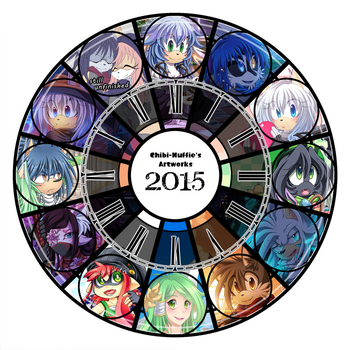 Art Summary 2015 by Chibi-Nuffie