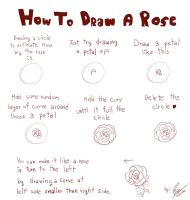 How To Draw A Rose by linnil