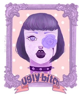 Pastel goth girl by Boughe