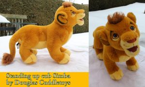 Standing Simba cub by Douglas cuddletoys by Laurel-Lion