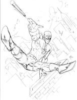 Daredevil over the rooftops by SpiderGuile