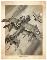 Handley Page Space Bomber by MikeDoscher