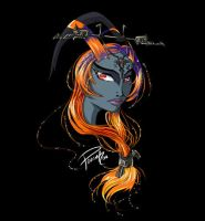 Midna - Starry Portrait by ForkysAnime