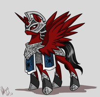 Commission - Shade the Royal Guard by Valkyrie-Girl